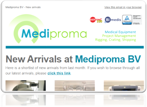 Mediproma Newsletter button